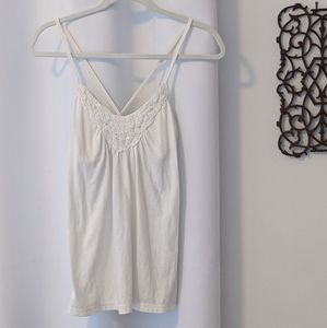 American Eagle Outfitters Ivory Tank
